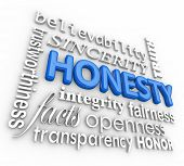 Honesty, Integrity, Trustworthy, Reliability